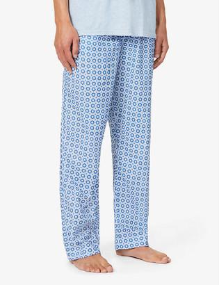 Derek Rose Ledbury geometric-print cotton pyjama bottoms