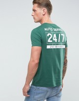Asos T-Shirt With Text Back Print In Green