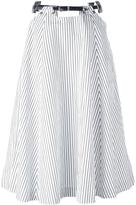 Toga striped belted skirt
