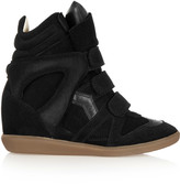 Isabel Marant The Bekett suede and leather wedge sneakers