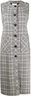 Gucci Check Print Sleeveless Coat