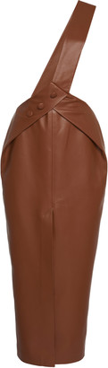MATÉRIEL Faux Leather Overall Skirt