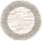 Mela Artisans Natural Bone Ivory Chantilly Charger