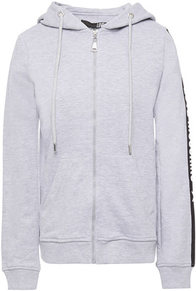 Love Moschino Monogram-trimmed French Cotton Terry Hoodie