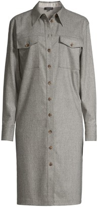 Lafayette 148 New York Thomme Virgin Wool-Blend Shirtdress