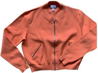 Acne Studios Orange Leather Jacket for Women