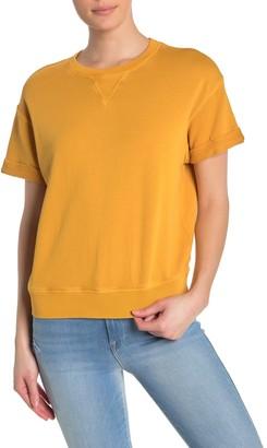 Frame Rolled Short Sleeve Sweatshirt