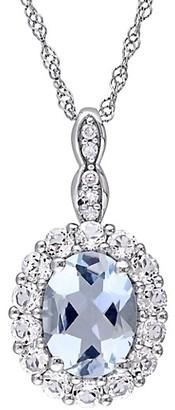Saks Fifth Avenue 14K White Gold, Multi-Stone Diamond Pendant Necklace