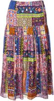 Matthew Williamson Belvoir Tapestry Silk Midi Skirt