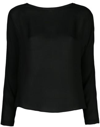 Nili Lotan Silk Long Sleeve Top