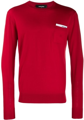 DSQUARED2 Logo Pocket Chest Card Jumper