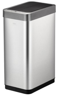 Eko Phantom X Brushed Stainless Steel 45L Motion Sensor Trash Can