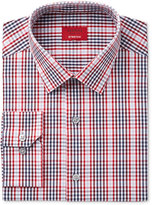 Alfani Men's Slim-Fit Stretch Red Optic Check Dress Shirt, Only at Macy's