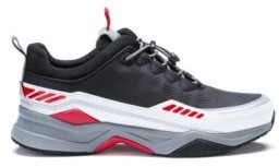 HUGO BOSS Running Inspired Sneakers With Pop Color Accents - Black
