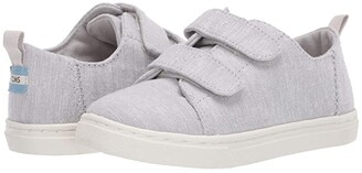 Toms Kids Lenny Double Strap (Toddler/Little Kid) (Glacier Grey Intriccate Chambray) Kid's Shoes