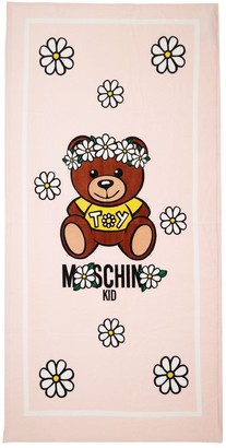 Moschino Toy Print Cotton Terry Beach Towel
