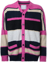 Sacai colour block cardigan - men - Cotton - 3