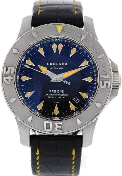 Chopard Pro One 8912 L.U.C Stainless Steel & Leather Date Automatic 43 mm Men's Watch