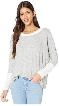 LAmade Brushed Hacci Retreat Sweater (Heather Grey 1) Women's Sweater