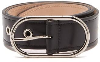 Acne Studios Eyelet-studded Leather Belt - Womens - Black