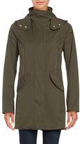 Weatherproof Zip-Front Hooded Raincoat
