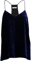 Tibi Silk-trimmed velvet camisole