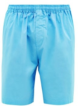 Raey Wide-leg Cotton-blend Shorts - Mens - Light Blue