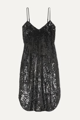 Nili Lotan Sequined Chiffon Dress - Black