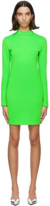 Kwaidan Editions Green Jersey Mousse Short Dress