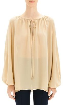 Theory Gathered Silk Tunic
