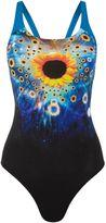 Speedo Solarvision placement digital powerback swimsuit