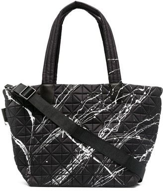 VeeCollective Geometric Quilted Tote Bag