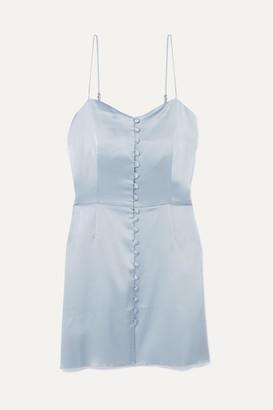 Nanushka Mabel Satin Mini Dress - Light blue