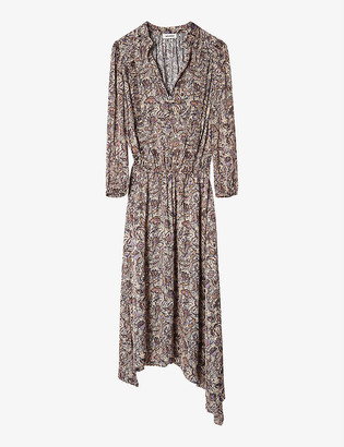 Zadig & Voltaire Rowdy floral-print woven midi dress