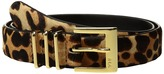 Lauren Ralph Lauren Haircalf Triple Keeper Belt Women's Belts