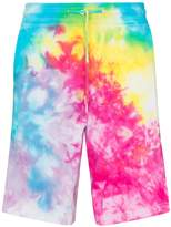 Stain Shade tie-dye cotton track shorts