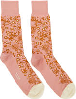 Paul Smith Pink Japanese Floral Socks