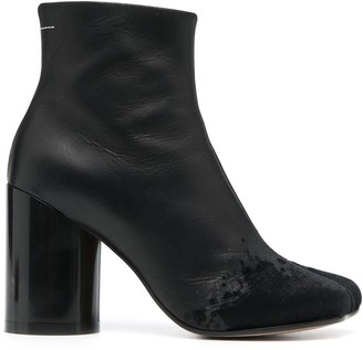 MM6 MAISON MARGIELA Cylindrical Heel 90mm Ankle Boots