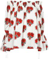 Alexander McQueen poppy print blouse - women - Cotton/Viscose - 42