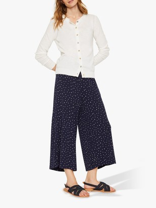 White Stuff Printed Culottes, Navy