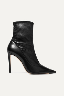 Jimmy Choo Brin 100 Leather Sock Boots - Black