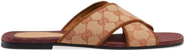 Gucci Original GG canvas slide sandal