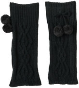Cuddl Duds Girls 4-16 Cable Texture Pom Leg Warmers
