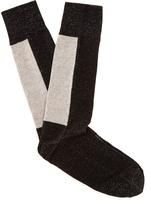 Off-White Flecked logo-jacquard socks