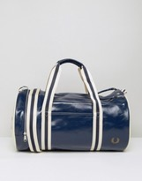 Fred Perry Classic Barrel Bag In Blue