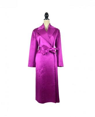 Barbara Casasola Purple Wool Coat for Women