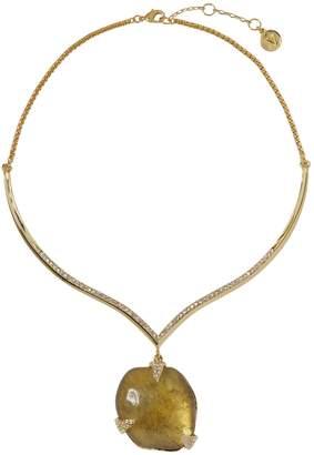 Resin-drop Collar Necklace