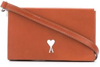 AMI Paris Small Leather Box Bag