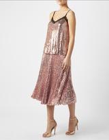 Monsoon Lila Sequin Pleated Skirt