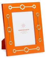 "Jonathan Adler Turner Lacquer Picture Frame, Orange, 5"" x 7"""